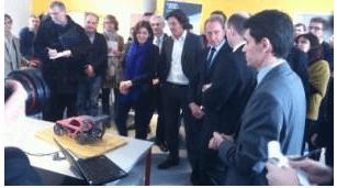 Visite inaugurale par le maire de Paris