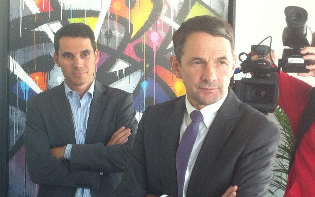 Thierry Mandon secrétaire d'état chargé de l'Enseignement supérieur et de la Recherche visite l'incubateur