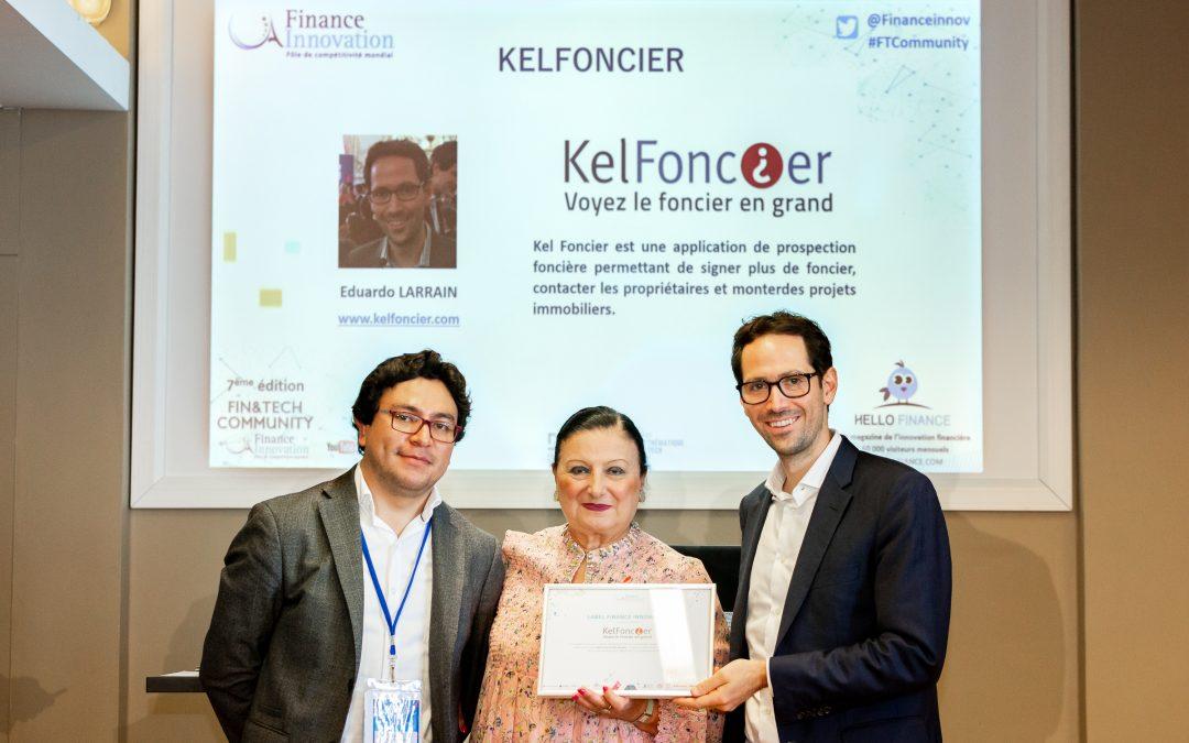 KelFoncier remporte le Label 2018 du pôle de compétitivité Finance & Innovation