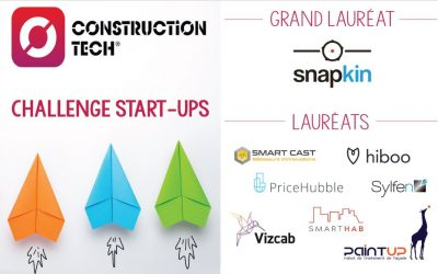 Les 8 lauréats du Challenge start-ups Construction Tech membres de l'écosystème Impulse Labs