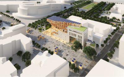 « Odyssée Pleyel », le projet urbain et architectural bas carbone porté par le groupe EDF, est récompensé sur le site Hall de décuvage Pleyel