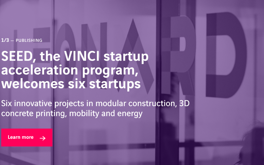 SEED, the VINCI startup acceleration program, welcomes six startups