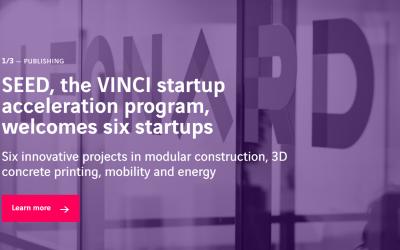 SEED, the VINCI startup acceleration program, welcomes six startups