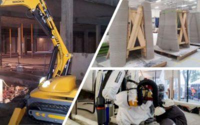 Robotised construction sites