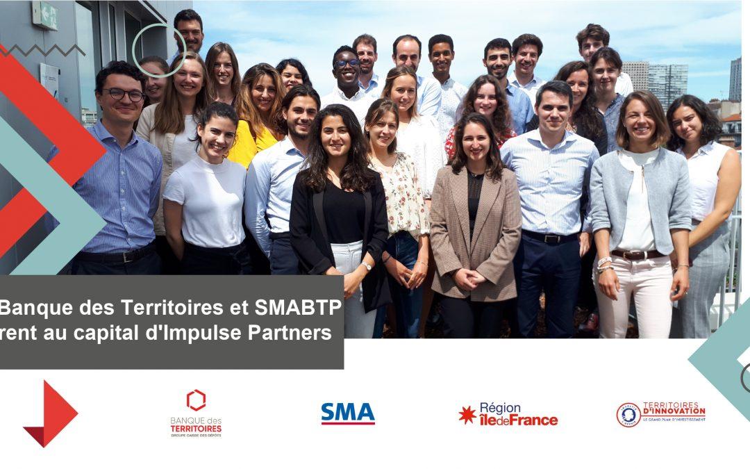 La Banque des Territoires et SMABTP entrent au capital d'Impulse Partners